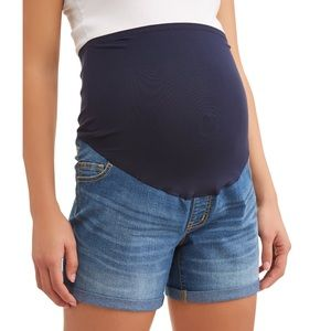 Time and Tru Maternity Over the Belly Shorts